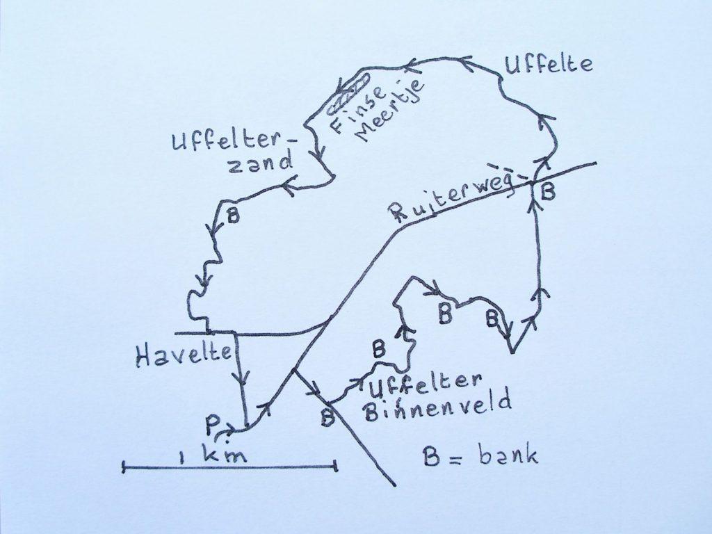Kaart Uffelter binnenveld